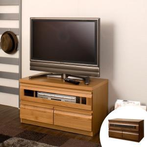 テレビ台 ローボード TVボード 天然木 アルダー 木製 幅80cm ( TV台 テレビボード AVボード コンパクト 引き出し付き 収納 )|interior-palette