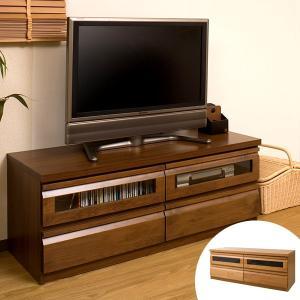 テレビ台 ローボード TVボード 天然木 アルダー 木製 幅120cm ( TV台 テレビボード AVボード コンパクト 引き出し付き 収納 )|interior-palette