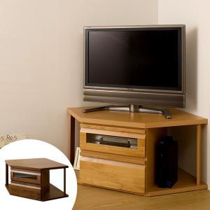 テレビ台 コーナー型 TVボード 天然木 アルダー 木製 幅110cm ( TV台 テレビボード AVボード コンパクト 引き出し付き 収納 )|interior-palette