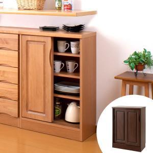 カウンター下収納 引戸 天然木 アルダー 木製 幅60cm ( 収納棚 窓下 キッチン サイドボード キッチンカウンター カウンター下 )|interior-palette