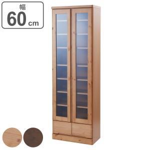 食器棚 カップボード 天然木 幅60cm 薄型ハイタイプ 完成品 ( 北欧 棚 キッチン収納 スリム コンパクト )|interior-palette