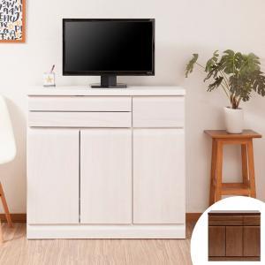 【ポイント最大26倍】パソコンデスク キャビネットタイプ 天然木 桐 幅90cm ( 机 デスク PCデスク )|interior-palette