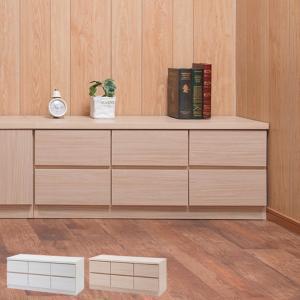 ローチェスト 2段3列 ベンチチェスト 木目調 約幅105cm ( 完成品 国産 チェスト ロータイプ テレビ台 TV台 ディスプレイ 収納 )|interior-palette