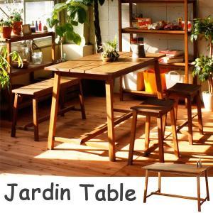 幅120cmの無垢材ダイニングテーブル マホガニー材 天然木 オイルフィニッシュ テーブル カントリー調 北欧風 無垢 ナチュラル ガーデン|interiorcafe