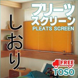 トーソー プリーツスクリーン しおり  シングル コードレス 遮光 コルトシークル 幅 200×高さ 200cm まで|interiorkataoka