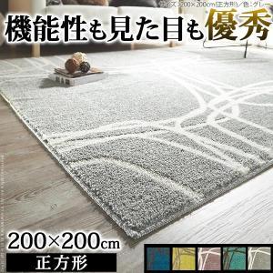 ラグ マット 洗える モダンラグ ピーク 200x200cm 防ダニ|interioronlineshop