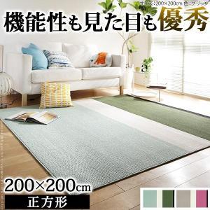 ラグ マット 防ダニ 北欧デザインラグ ジャーニー 200x200cm 2畳|interioronlineshop