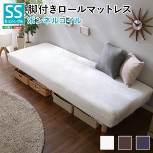 ベッド 脚付きロールマットレス ボンネルコイルスプリング セミシングルサイズ|interioronlineshop