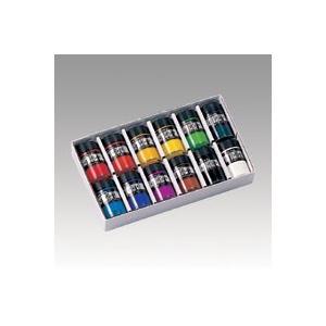 ターナー色彩 ポスターカラー40ml 12色セット ビンイリ12ショクセット|interiortool