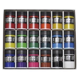 ターナー色彩 ポスターカラー40ml 18色セット ビンイリ18ショクセット|interiortool