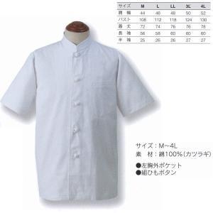 アベイチ シングルコート 半袖 綿100%(カツラギ) JF-419 M/L/LL/3L/4L interiortool