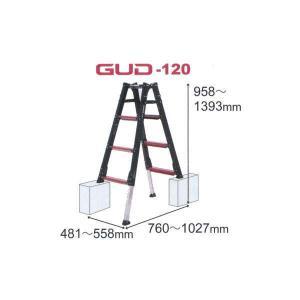 アルインコ 伸縮脚付き はしご兼用脚立 GAUDI-120|interiortool