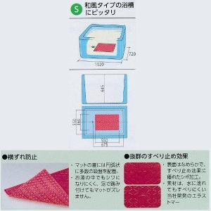 アロン化成 吸着すべり止めマットS レッド/グリーン/ブルー 幅55×奥行36×厚さ0.8cm|interiortool|02