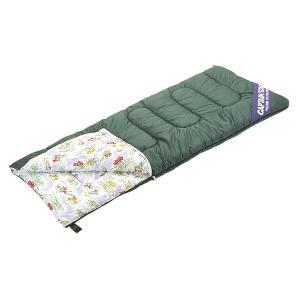 キャプテンスタッグ NEWフォリア シュラフ(寝袋) 封筒型 3シーズン用(高山植物柄) M-3412|interiortool