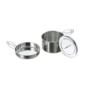 ■セット内容:片手鍋1、ふた1、フライパン1   ■サイズ(約):17cm鍋:幅170×全長285×...
