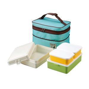 ■製品サイズ(約):保冷バッグ:幅255×奥行175×高さ140〜190mm、おにぎりケース:幅25...