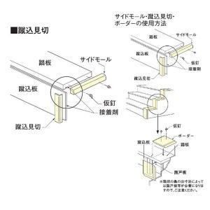 大建 ハピア プレミア階段用 蹴込見切250 CH514-101(G052・G050) 1個|interiortool