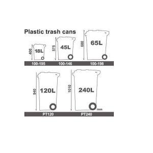 ダルトン プラスチック トラッシュカン ゴミ箱 45リットル 100-146BR ブラウン|interiortool