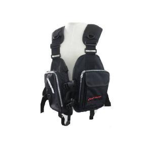 ファインジャパン ゲームフローティングベスト 笛付き フリーサイズ FV-6105 ブラック|interiortool
