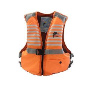 ファインジャパン ジュニア フローティングベスト 子供用 Lサイズ FV-6116 オレンジ|interiortool
