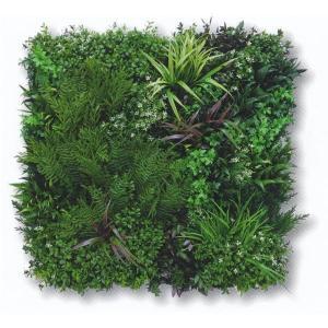 グリーンフィールド ビスタグリーン 壁面用人工芝 幅約80cm×高さ約80cm VG-P1P(本体1枚入+固定用部材4セット入)|interiortool