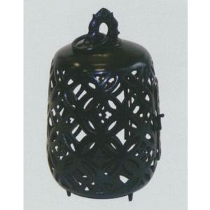 グローベン 吊灯篭 透七宝 銅製 黒塗 A60TJA006 205×205×H330|interiortool
