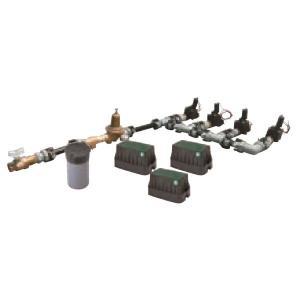 グローベン 電磁弁ユニット(減圧弁あり)4系統 口径20A- AC24V用 C10SBY 400G|interiortool