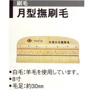 広島 120-01 月形撫刷毛 8寸 1つ|interiortool