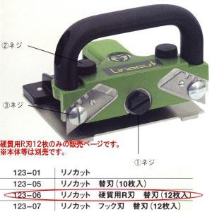 リノカット用 硬質用R刃 替刃 12枚|interiortool