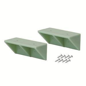 平安伸銅 シェルフサポート ヴィンテージグリーン DXV-52 W8.7cm×D3.8cm×H3.8cm|interiortool