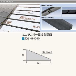 フクビ エコランバー瓦桟 瓦桟H4090(滑り止め加工付) ELHT3 厚さ40×巾90×長さ3000mm 4本入|interiortool