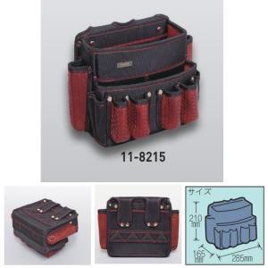 極東産機 ツールバッグ BLACK&RED 約190×70mm 11-8215|interiortool