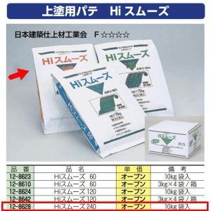 極東産機 上塗用パテ Hiスムーズ 240分 12-8628 10kg袋入 1つ|interiortool