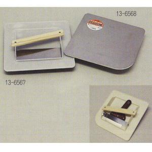 ステンレスパテ板 L Rタイプ パテベラ収納 295×295mm 1つ 13-6568|interiortool