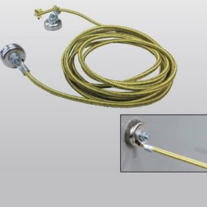 極東産機 除電ストレッチロープ(磁石セット) 磁石2個付 63-8134|interiortool