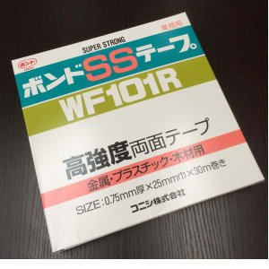 コニシ TMテープ 両面テープ WF101 25mm巾×30m長 0.75mm厚|interiortool