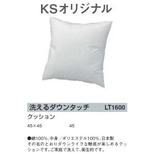 川島織物セルコン KSオリジナル 洗えるダウンタッチ クッション 45×45 LT1600