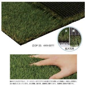 ミヅシマ 人工芝 DP 幅1820mm×長さ10m パイル長さ35mm DP-35 449-0071|interiortool