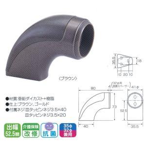 丸喜金属 52.5mmタイプ 35Φ・32Φ兼用 エンドブラケット D-224 interiortool