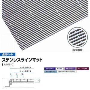 ミヅシマ工業 落とし込みマット 金属 ステンレスラインマット RM1510 高さ15mm ピッチ10mm 402-0230 平米単価|interiortool