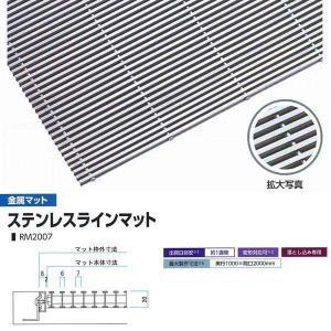 ミヅシマ工業 落とし込みマット 金属 ステンレスラインマット RM2007 高さ20mm ピッチ7mm 400-0240 平米単価|interiortool