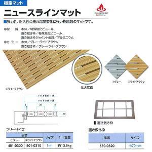 ミヅシマ工業 ニュースラインマット 401-0300グレー/401-0310ライトブラウン 1平米単価(サイズにより価格変)|interiortool