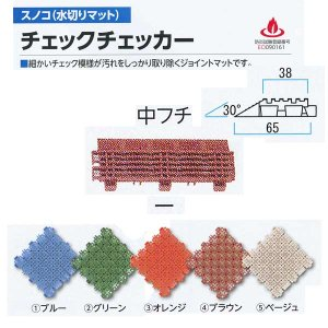 ミヅシマ工業 チェックチェッカー用 中フチ− 65×150mm 15mm厚 1つ|interiortool