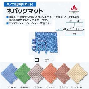 ミヅシマ工業 ネパックマット専用 コーナー 60×60mm 13mm厚 1つ|interiortool