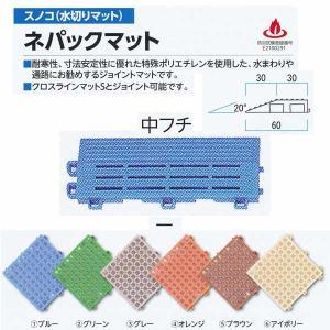 ミヅシマ工業 ネパックマット専用 中フチ− 60×150mm 13mm厚 1つ|interiortool