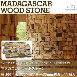 マダガスカルウッドストーン シートサイズ:横300mm × 縦150mm × 厚さ10〜35mm 内外 11枚入り1箱|interiortool