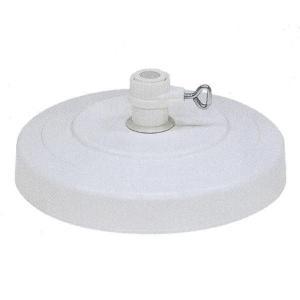 ニチエス パラソル用ベース 2002 ホワイト 径410×H130mm|interiortool
