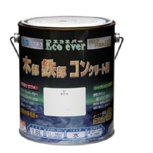 ニッペ 水性 エコエバー 木部・鉄部・コンクリート用塗料 1.6L|interiortool