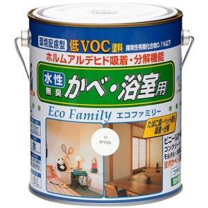 ニッペ 水性 エコファミリー ビニル壁紙、浴室用 塗料 1.6L|interiortool