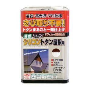 送料無料 ニッペ 高耐久シリコントタン屋根用 14kg 赤さび・こげ茶・チョコレート|interiortool